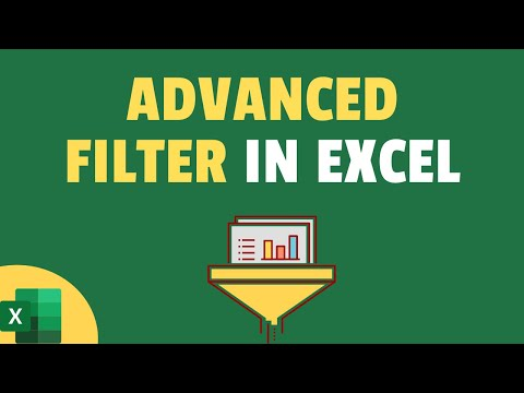 Unit 31 - Filter the Smart Way Use Advanced Filter in Excel