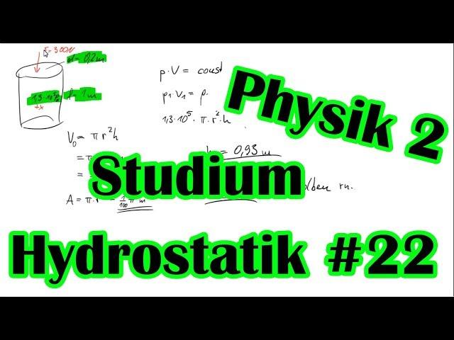 Physik Boyle Mariotte Aufgabe #22   Physik Nachhilfe