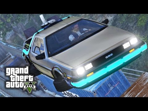 GTA V E28 - Flying Delorean from Back to the Future