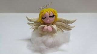 как сделать из пластилина ангела