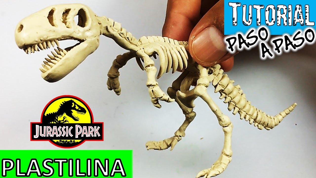 Como hacer esqueleto de dinosaurio t rex de plastilina for Como hacer una pileta de material paso a paso