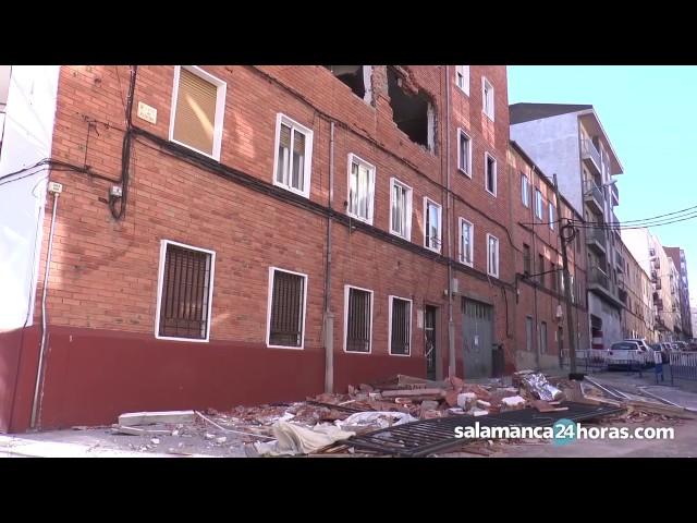 El edificio del barrio Vidal, un mes después de la explosión