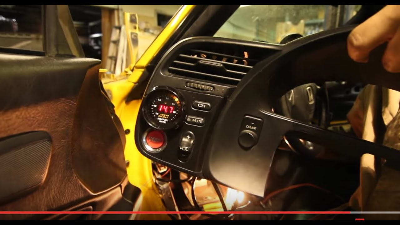 How To Install Gauges Aftermarket Wideband Sensor S2000 Aem Uego Wiring Diagram Youtube