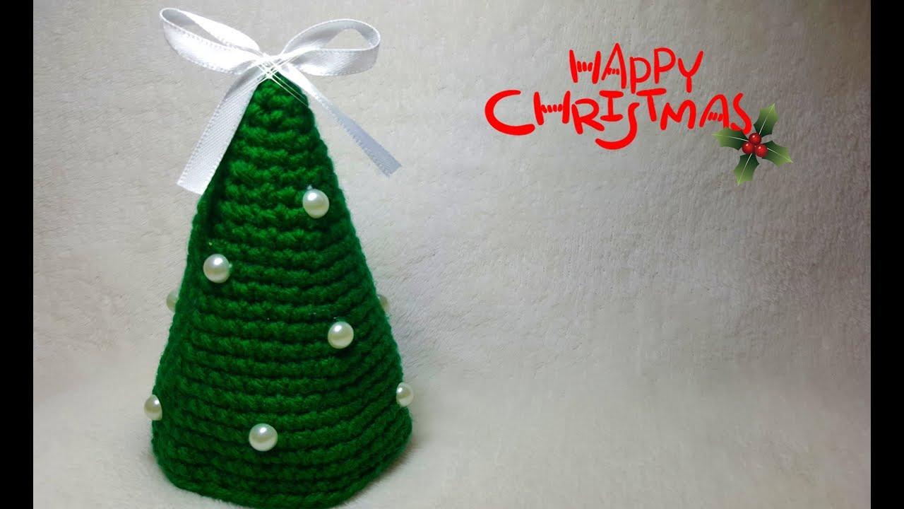 Albero Di Natale Alluncinetto Semplicissimo.Albero Di Natale Amigurumi All Uncinetto Crochet Christmas Tree Decorazioni Di Natale Fai Da Te