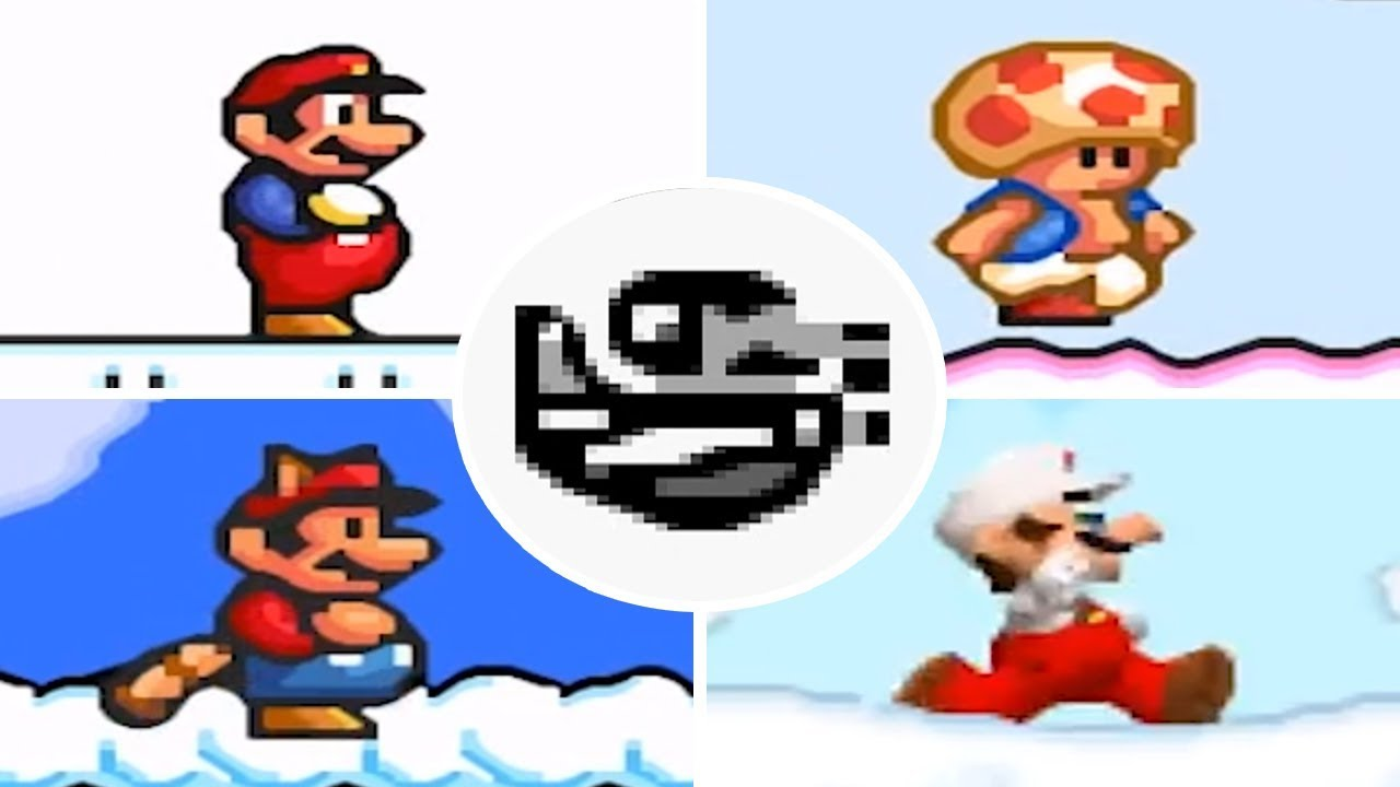 Evolution of - Sky Level in Super Mario 2D Jump'n'Runs