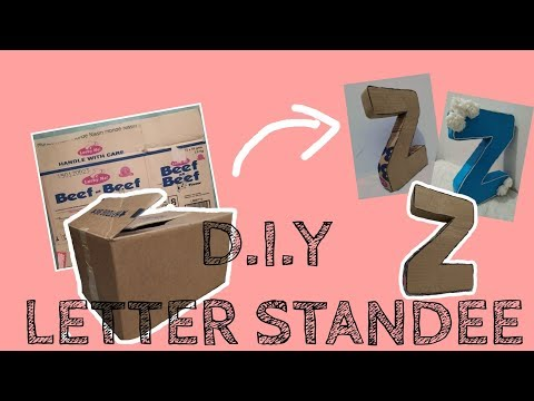 D.I.Y LETTER STANDEE  FROM CARD BOARD ( KARTON )