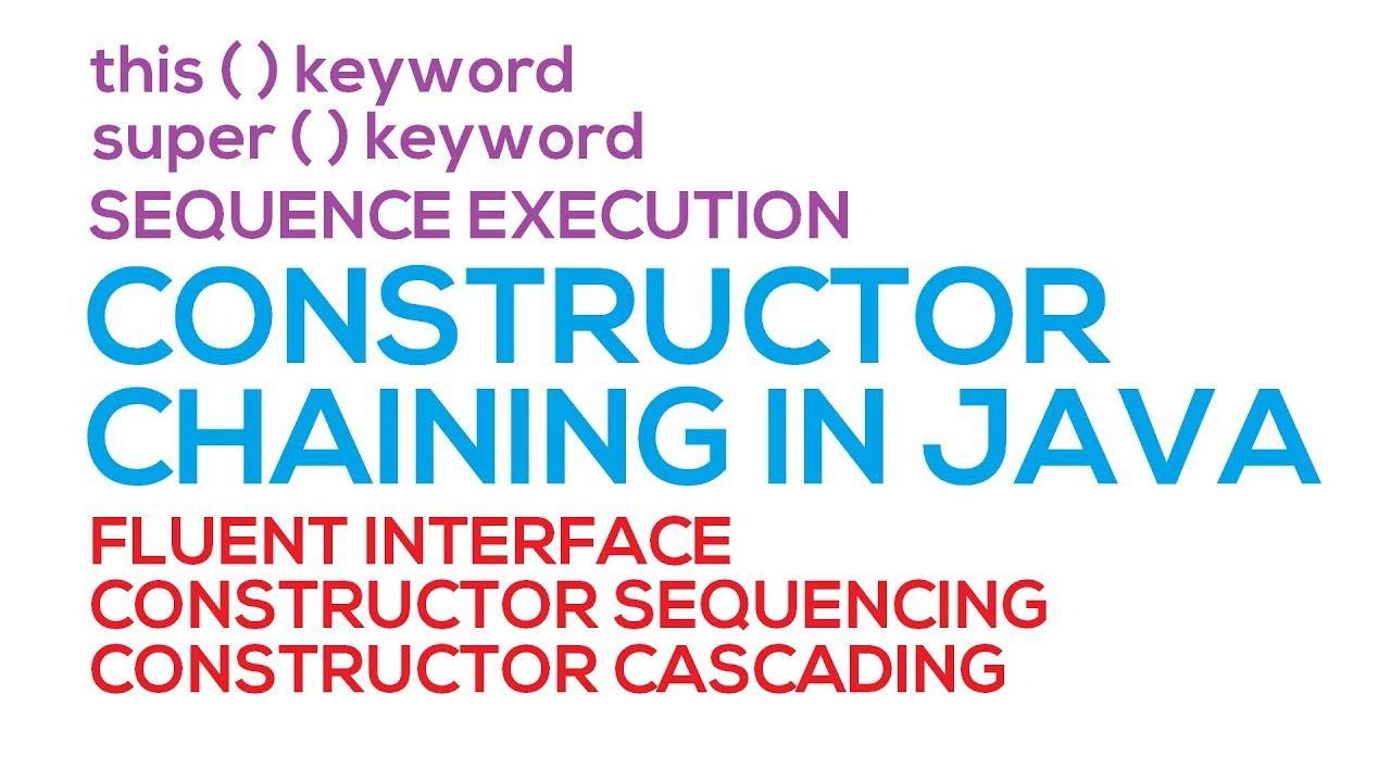 56 - Constructor Chaining in Java (Hindi/Urdu)