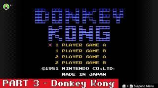 NES Online Retro Play - Donkey Kong , Part 3 /Nintendo Switch