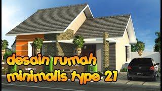 Desain Rumah Minimalis Type 21 1 Lantai 2 Lantai Tampak Depan Youtube