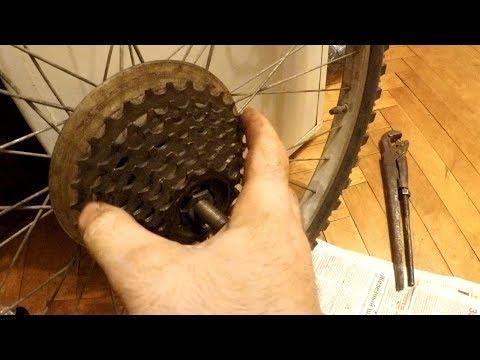 """""""прокруты"""" на велосипеде, не откручивается кассета шестерен"""