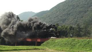 【鉄道動画】SLやまぐち号重連
