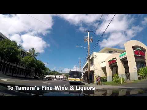 "HDGoPro Driving in OAHU ""To Tamuras Fine Wine & Liquors"""