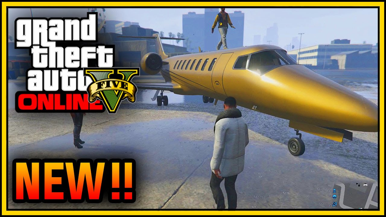 Extrêmement GTA 5 ONLINE - NEW GOLD 10,000,000 $ LUXOR DELUXE JET & SWIFT (GTA  RW07