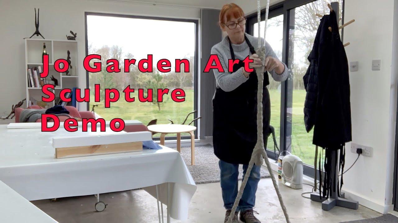 Jo Garden Art sculpture using air drying clay