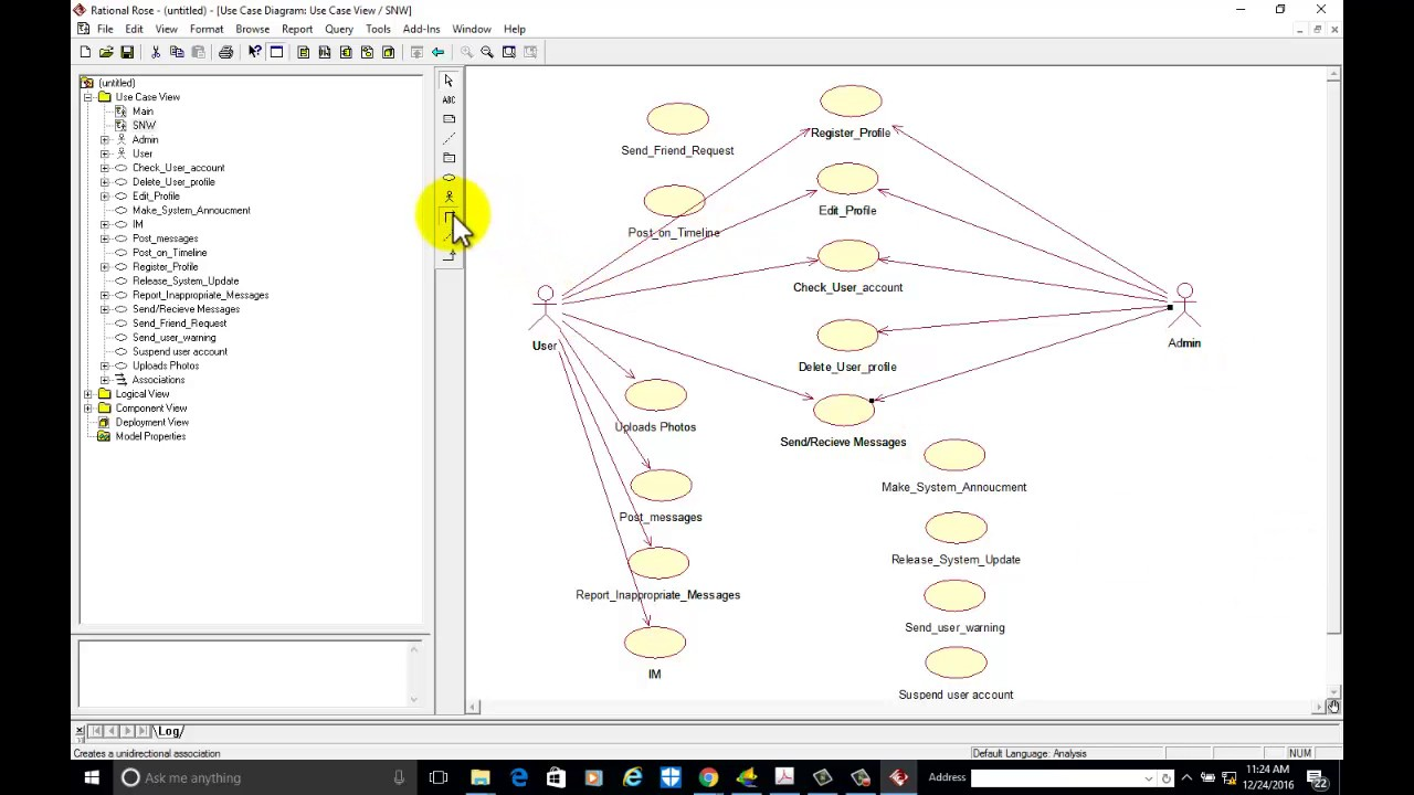 Usecase Diagram Example For Social Networking Websites With Rational Rose