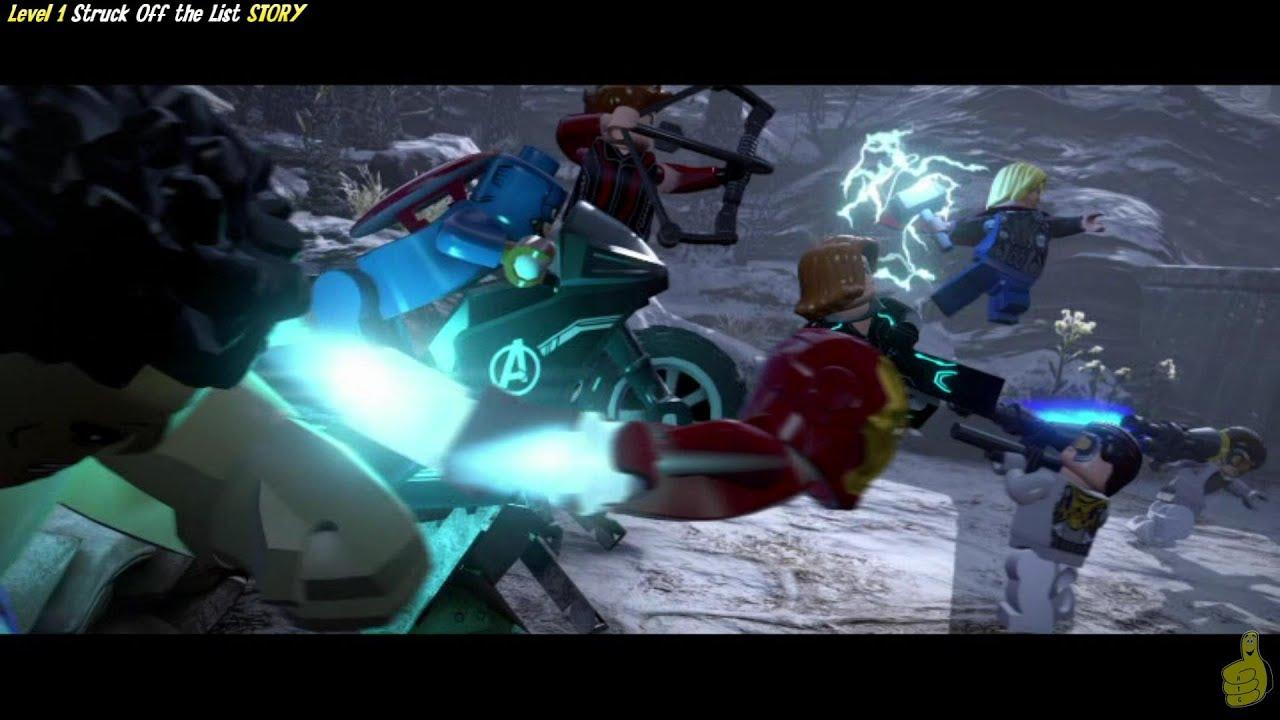 Lego Marvel Avengers Level 1 Story Struck Off The List Trophy Achievement Htg Youtube