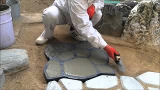 Mortar paving stones