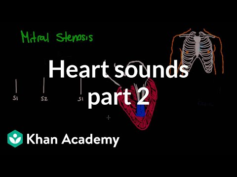 Systolic murmurs, diastolic murmurs, and extra heart sounds  Part 2  NCLEXRN  Khan Academy