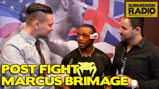 Marcus Brimage: CRAZY kick KO, Dragonball Z, Video Games Post Fight UFC Fight Night Sydney talks