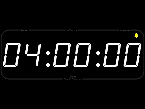 4 Hour - TIMER & ALARM - 1080p - COUNTDOWN
