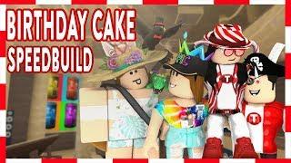 ROBLOX Bienvenido a Bloxburg: BIRTHDAY CAKE (Speedbuild and Celebration)