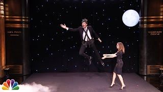 Allison Williams Teaches Jimmy to Fly like Peter Pan