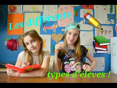 LES DIFFERENTS TYPES D' ELEVES