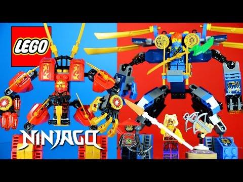 LEGO NINJAGO 70754 Jay's ElectroMech and 70500 Kai's Fire Mech