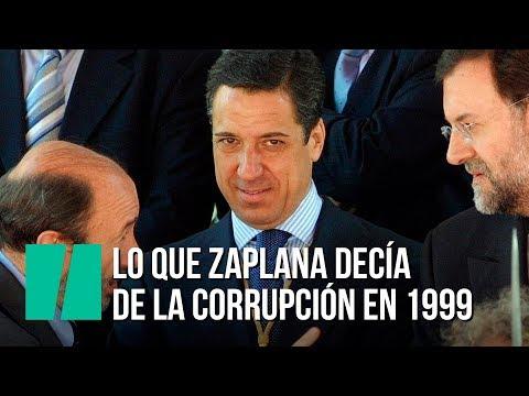 """Zaplana: """"La corrupción ya no preocupa porque ha desaparecido"""""""