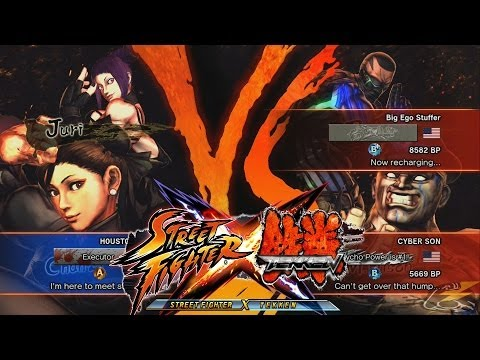 Streetfighter X Tekken - HOUSTONBOY (ChunLi/Juri) vs CYBER SON & Big Ego Stuffer (M.Bison/Raven)