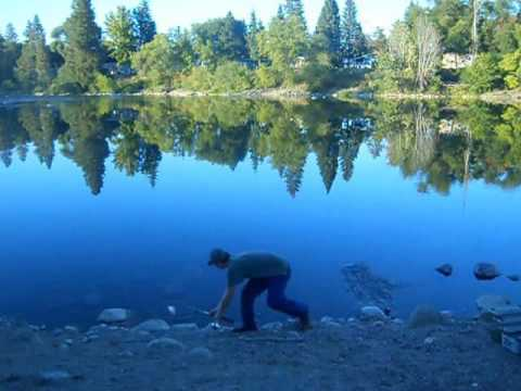 fishing in the Spokane river