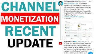 monetization Update From Youtube Team