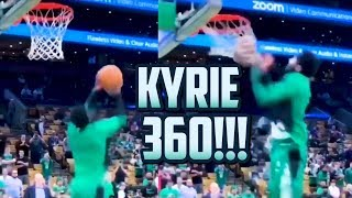 KYRIE IRVING 360 DUNK IN WARM UPS!!! (Daily Dunks)