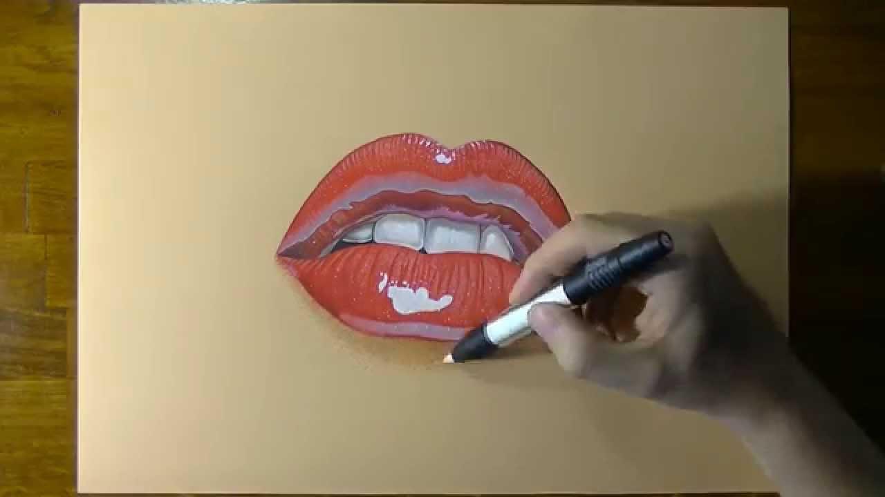Favorito Disegno realistico in timelapse: bocca di donna - YouTube PD69
