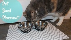 DIY Pet Bowl Placemat   Dog/Cat Food Bowl Mat DIY