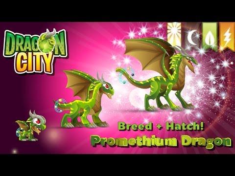 [Dragon City] ผสม + ฟักไข่มังกรกัมมันตภาพรังสี 4 ธาตุ Breed + Hatch Promethium Dragon   amSiNE