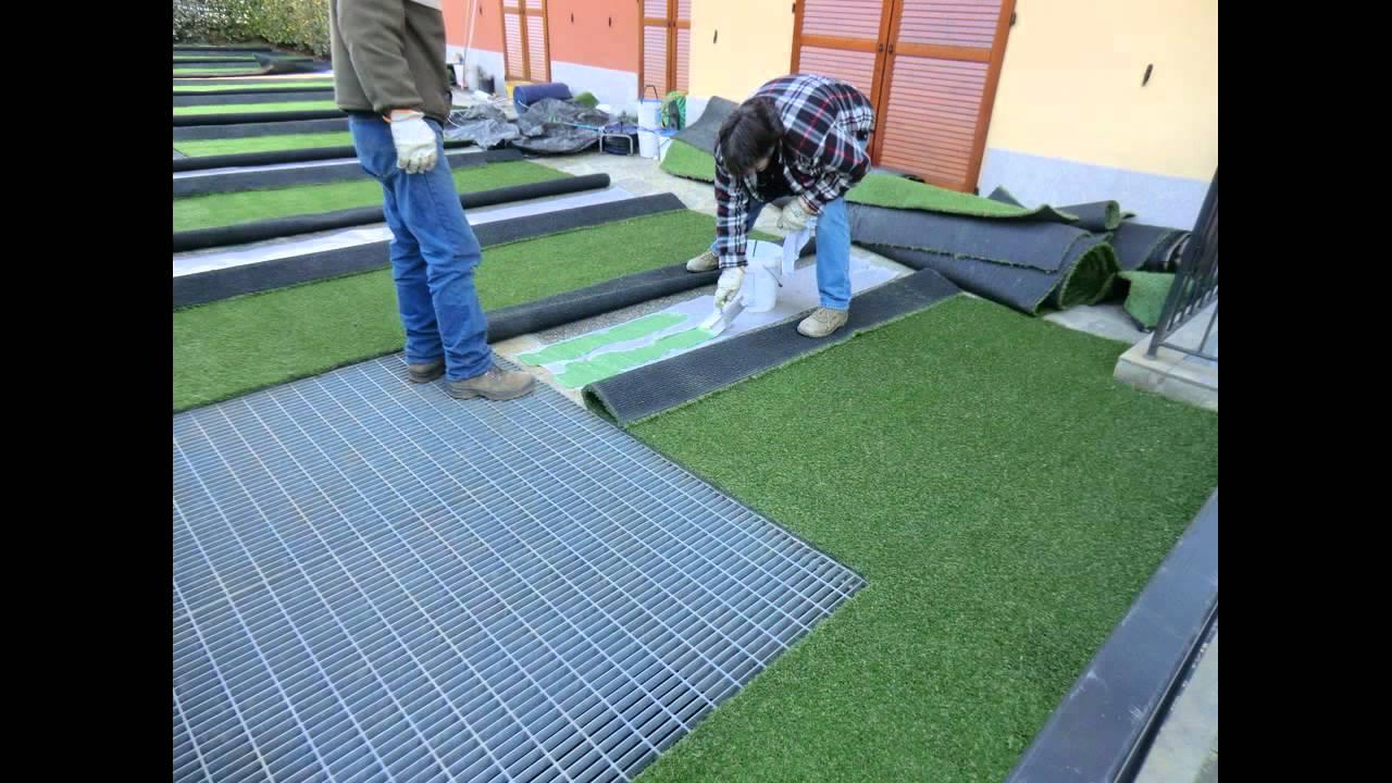 Come posare erba sintetica finta e prato artificiale facile e