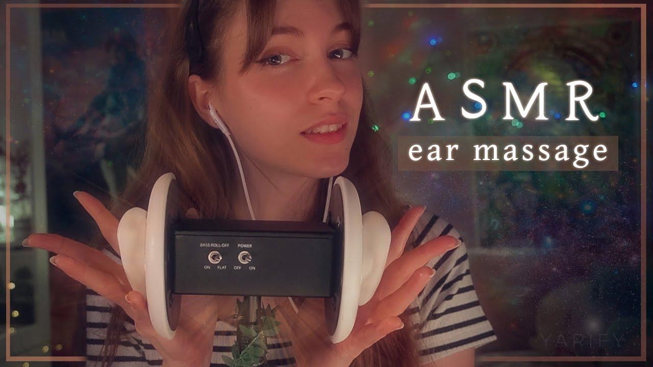 ASMR   Masaje relajante para tus orejitas 🤍 3DIO