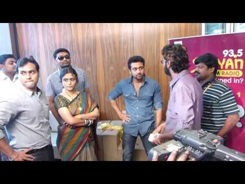 Actor Surya Surprised At the Welcome At Suryan FM 93.5 Studi