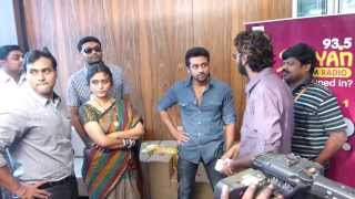 Actor Surya Surprised At the Welcome At Suryan FM 93.5 Studios During Interview for Singam 2