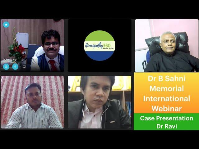 Dr B Sahni Memorial International Webinar Case Presentation Dr Ravi