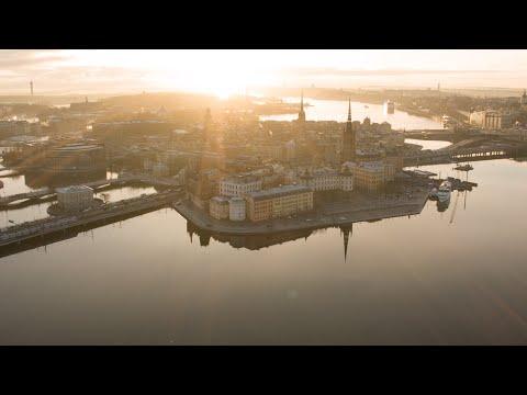 2557. Globen (Stockholm Globe Arena) Stock Footage Video