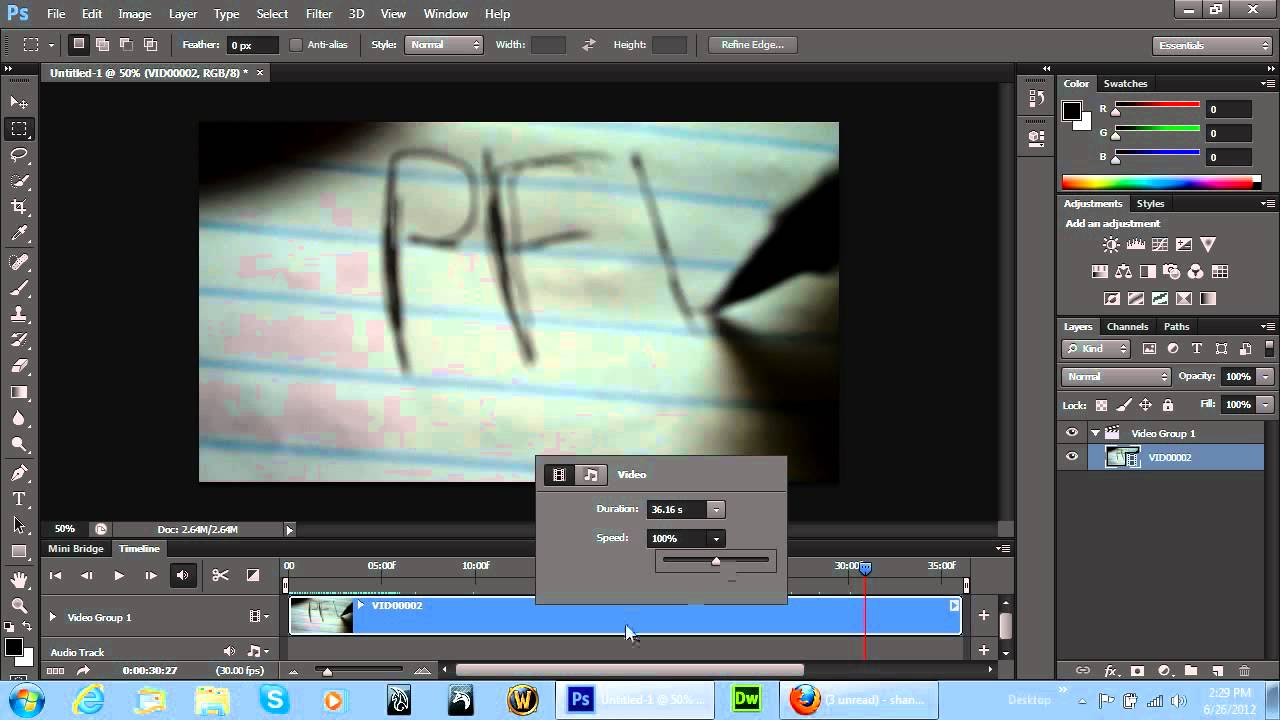 Photoshop Cs6  New Video Editing Timeline Feature
