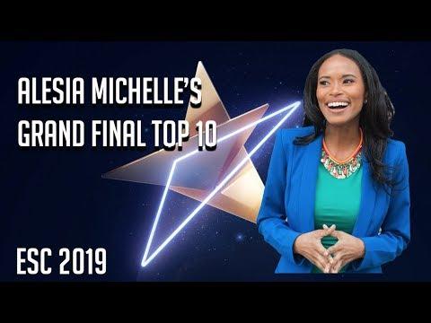 My Eurovision 2019 Grand Final Top 10 [Alesia Michelle]