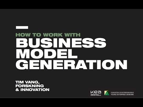 How to work with Business Model Generation