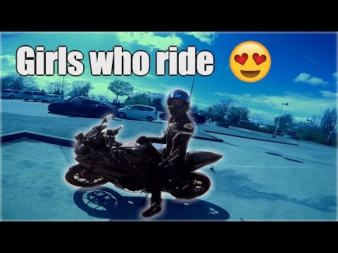 Meeting A CUTE Girl Rider!