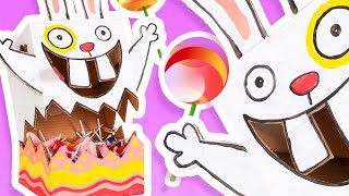 DIY Candy Dispenser - Easter Bunny | Cardboard Craft Ideas For Kids on BoxYourself