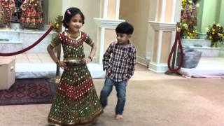 Vedanshi and Krishiv dancing at Durga Temple VA