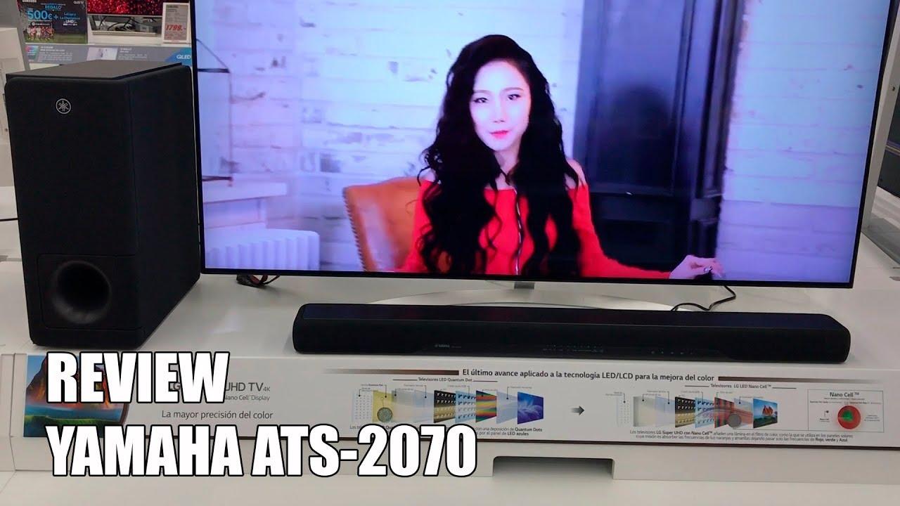 review yamaha ats 2070 nueva barra de sonido bluetooth. Black Bedroom Furniture Sets. Home Design Ideas