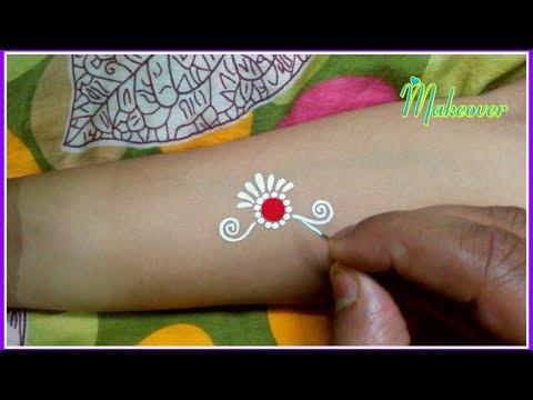 Easy Bengali Bindi Designs - Bridal Kalka - Chandan Art - Kum Kum Art - Forehead Kalka - Kalka Art